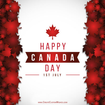 Free Customize Canada Day Wishes Images