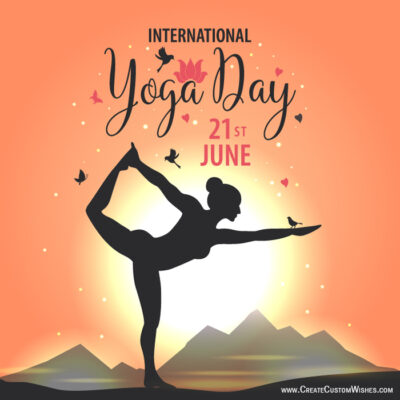 21st June - Yoga Day Image with Name