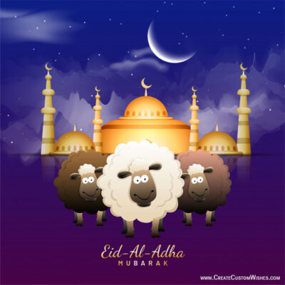 Eid-Al-Adha Greetings with Name