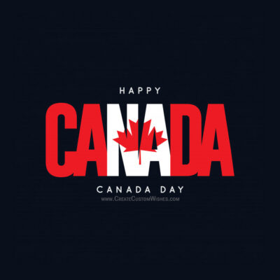 Happy Canada Day Wishes Image with Name