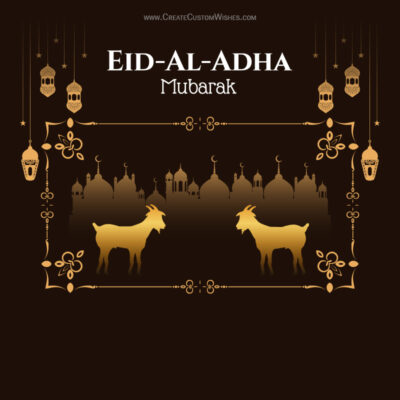 Create Bakrid Mubarak with Name, Text & Quote