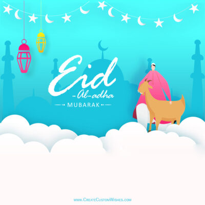 Create Eid ul-Adha with Name & Photo