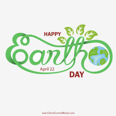 Create Custom Earth Day Image with Name