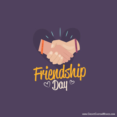 Online Friendship Day Greetings Cards Editor Free