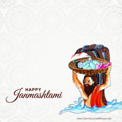 Free Janmashtami Greeting Cards Maker