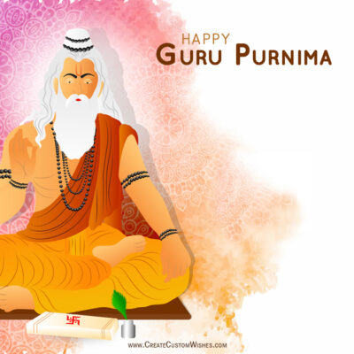 Write Quote on Guru Purnima Wishes Cards