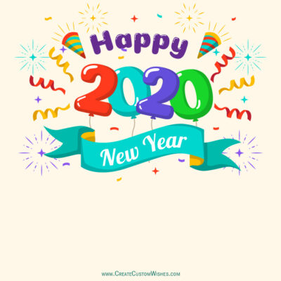 Put your logo on Happy New Year 2020 Card
