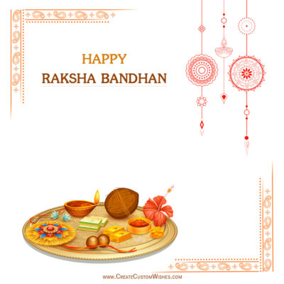 Happy Raksha Bandhan Photo with Name