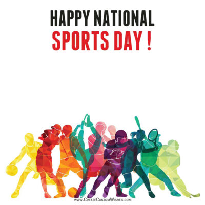 National Sports Day Image with Name