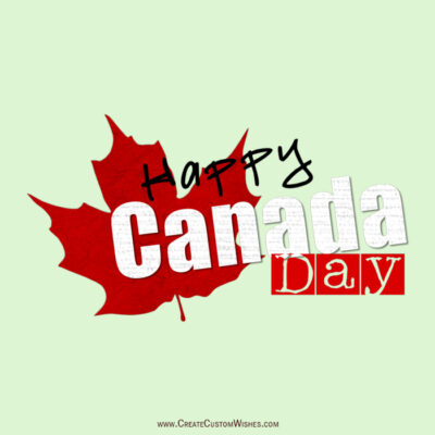 Make Canada Day Wishes Card Online Free