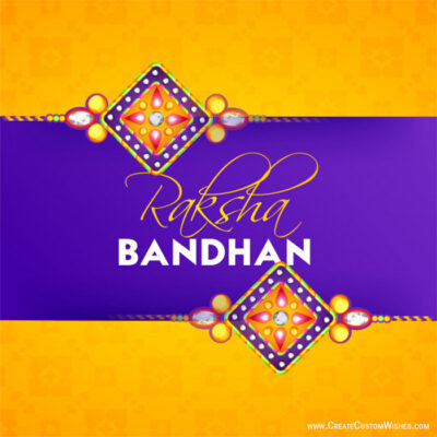 Raksha Bandhan Greetings with Name