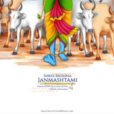 Make Online Janmashtami Wishes Image for Whatsapp Status