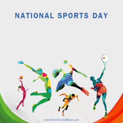 National Sports Day Photo with Name