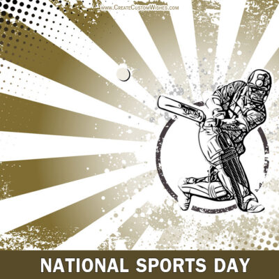 National Sports Day Image with Message
