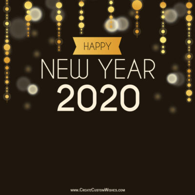 2020 Happy New Year Greetings Cards