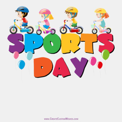 Create Custom National Sports Day Image