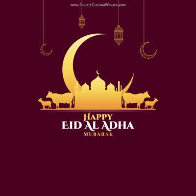 Write Quote on Eid Mubarak Card