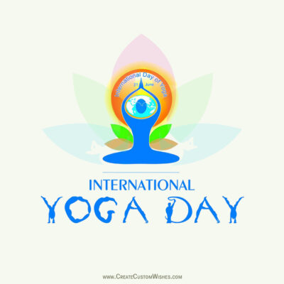 Write Quote on International Yoga Day Image