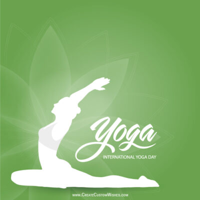 Make Yoga Day Wishes Card Online Free