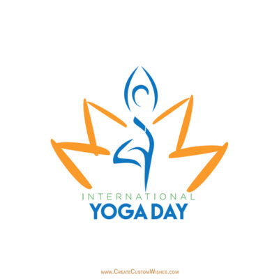 Free Customize Yoga Day Wishes Images