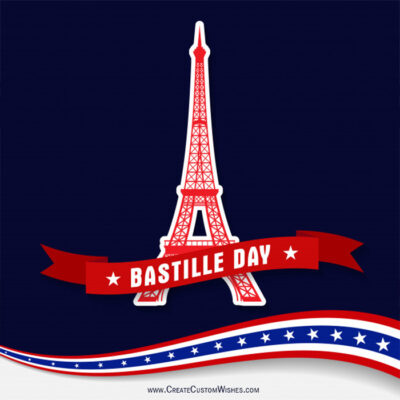 Put Your Image on Bastille Day Wishes Image