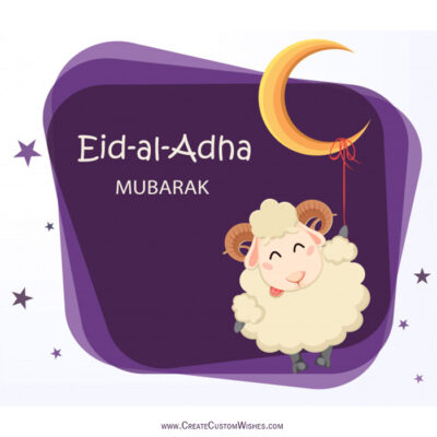 Eid-ul-Adha Photo with Name