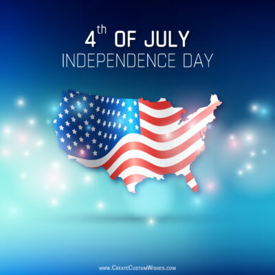 4th July - Independence Day US Images with Name