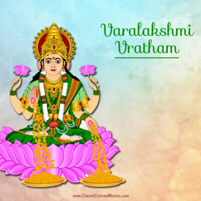 Varalakshmi Vratam Image with Name