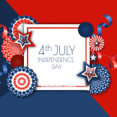 Freely Create Your Own 4th July US cards