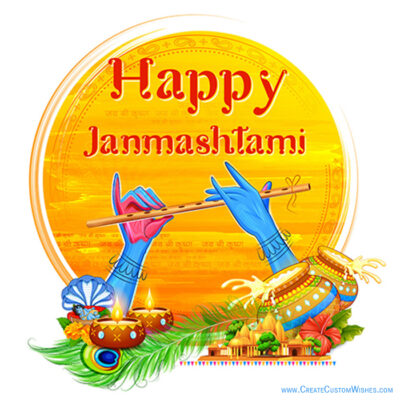 Janmashtami Photo with Name
