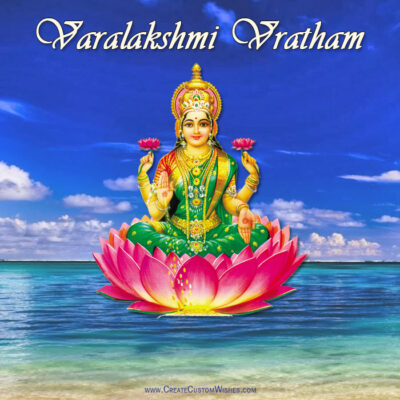 Varalakshmi Vratham Photo with Name