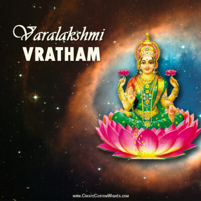 Varalakshmi Vratham Image with Quote