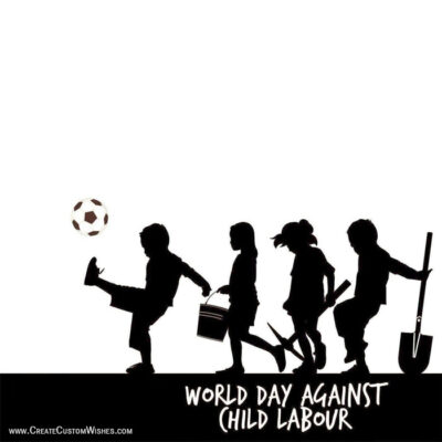World Day Against Child Labour Image with Quote
