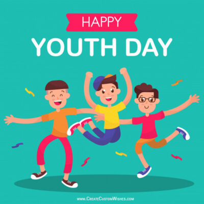International Youth Day Greetings with Name