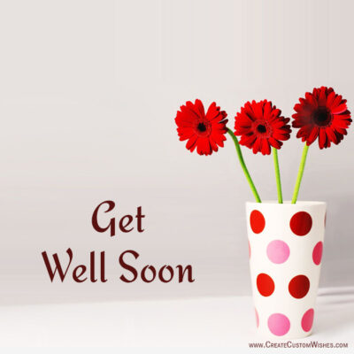 Get Well Soon Bouquet with Name