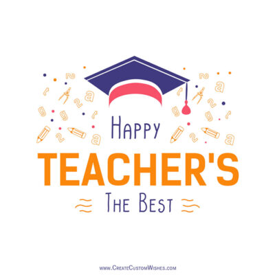 Happy Teachers Day Image with Name