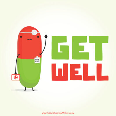 Get Well Soon Message with Name
