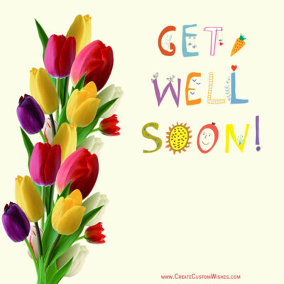 Get Well Soon Rose Image with Text
