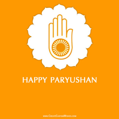 Happy Paryushan Parv Images with Name