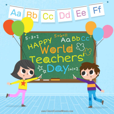 Customized World Teachers Day Images