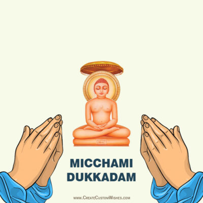 Create your Own Micchami Dukkadam Images