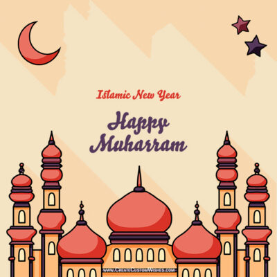 Make Happy Islamic New Year Wishes Images Online