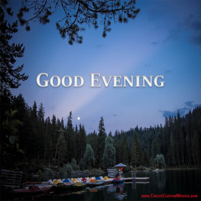 Create Good Evening Beautiful wish image