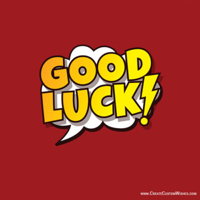 Good Luck Wishes Images with Name