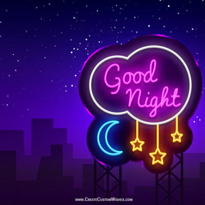 Good Night Wishes Images with Name