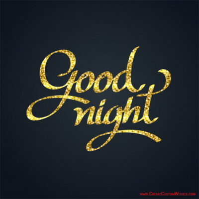 Good Night Wishes Card with Message