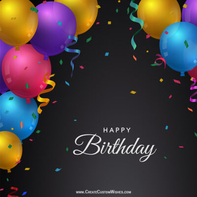 Make Happy Birthday Image with Name