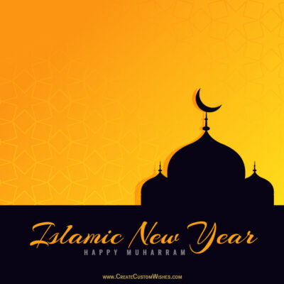Islamic New Year Greeting Image with Name
