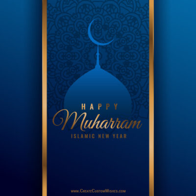 [Free] Write Name on Muharram Wishes Cards