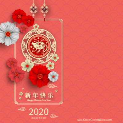 Chinese New Year Rat 2020 Greeting Cards